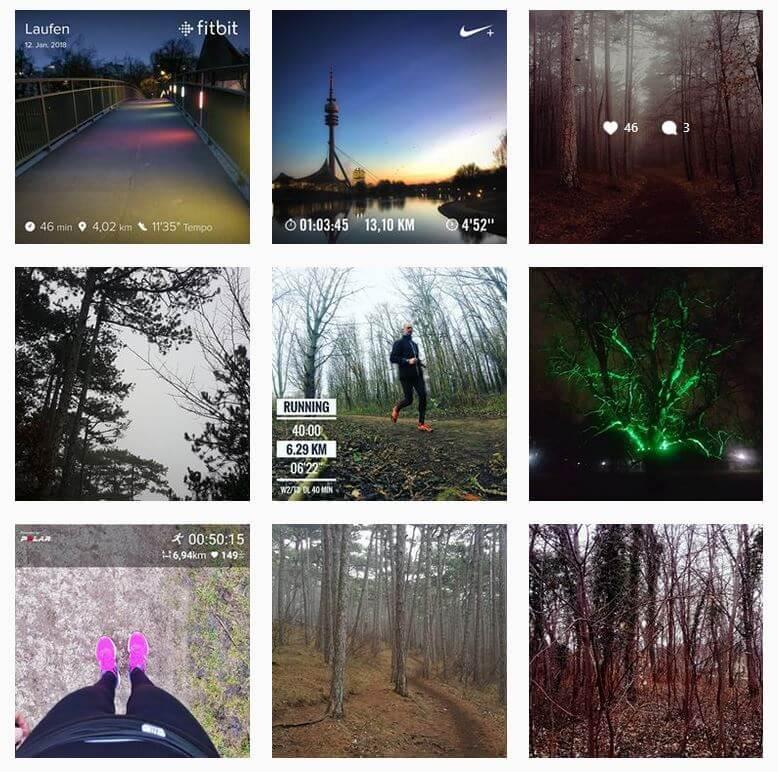 Screenshot Instagram runforlisa